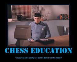 Chess Education --- Study! Study! Study! Or Bonk! Bonk! One the head!