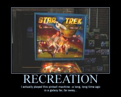 Recreation --- I actually played this pinball machine - a long, long time ago in a galaxy far, far away...