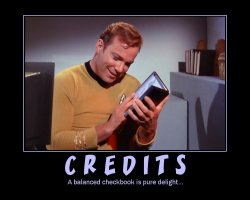 Credits --- A balanced checkbook is pure delight...