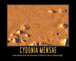 Cydonia Mensae --- How about first we discover if there is like on Wyoming?