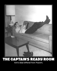 The Captain's Ready Room --- Kirk's ideal differed from Picard's.